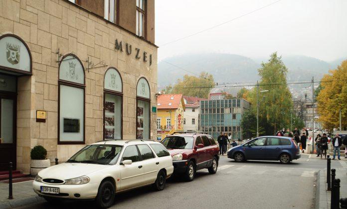 A fachada lateral do museu